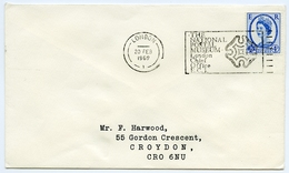 Slogan Postmark On Cover NATIONAL POSTAL MUSEUM, LONDON CHIEF OFFICE, 1969 / Address - Croydon, Gordon Crescent - 1952-.... (Elizabeth II)