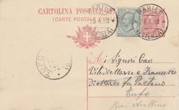 Barile. 1919. Annullo Guller BARILE (POTENZA), Su Cartolina Postale Con Testo - 1900-44 Vittorio Emanuele III