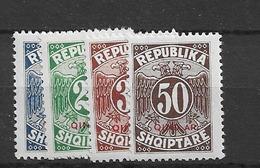 Porto 1925 MH Albania Mi 26-29 - Albanie