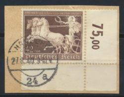 Deutsches Reich 747 Eckrand O Briefstück - Allemagne
