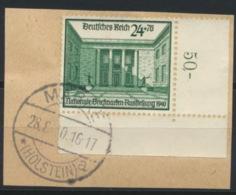 Deutsches Reich 743 Eckrand O Briefstück - Germany