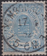 Luxembourg  .     Yvert    .   45     .      O    .      Oblitéré     .   /   .   Gebraucht - 1859-1880 Wappen & Heraldik