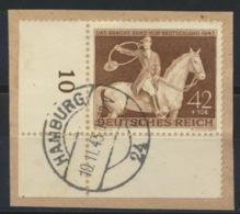 Deutsches Reich 854 Eckrand O Briefstück - Germany