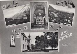 SAN ROMOLO-IMPERIA-SALUTI DA(MULTIVEDUTE)-CARTOLINA VERA FOTOGRAFIA-VIAGGIATA IL 3-9-1963 - Imperia