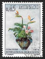 MONACO  1973  -  YT  948 -  Concours Bouquets   -  Oblitéré - Monaco
