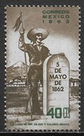Mexico 1962. Scott #922 (MNH) Insurgent At Marker For Battle Of Puebla ** Complet Issue - Mexico