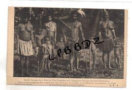 CPA - OCEANIE - NOUVELLE CALEDONIE - Famille Canaque De La Tribu De Thio - Propriété De La Cie Fse Des Cafés Calédoniens - Nouvelle-Calédonie