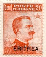 ERYTHREE (Colonie Italienne) - 1921 - N° 49 - 20 C. Orange - (Timbre D'Italie De 1917) - Eritrea