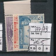 IRAQ UPU 1949 YVERT 177/179 MNH - Iraq
