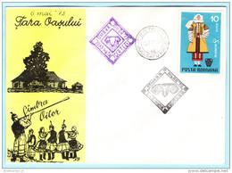 RUMÄNIEN ROMANIA 3110 Trachten - SST SIMBA OILOR 73 (Brief)  Cover (028565) - Cartas