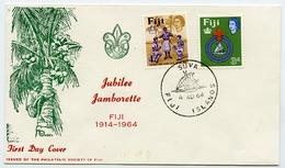 FIJI, SUVA - 1964 JUBILEE JAMBORETTE / JAMBOREE / BOY SCOUTS - FDC - Scouting