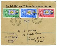 TRINIDAD & TOBAGO 1964 GIRL GUIDES GOLDEN JUBILEE SET FDC REGISTERED - Scoutismo