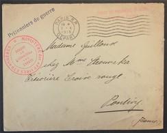 Env > Croix-Rouge Pontivy Cachets Dont Ministère Des Affaires Etrangères Service Des Prisonnier De Guerre Oct 1915 - Marcophilie (Lettres)