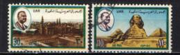 EGITTO - 1971 - GAMAL ABDEL NASSER, MOSCHEA DEL SULTANO HASSAN, SFINGE E PIRAMIDI - USATI - Posta Aerea