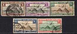 EGITTO - 1933 - AEREO CHE PLANA SULLE PIRAMIDI - USATI - Posta Aerea