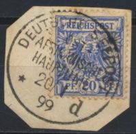 Deutsches Reich 48 O Briefstück Stempel Deutsche Seepost Afrikanische Hauptlinie - Deutschland