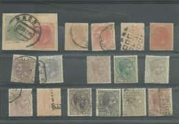 ALFONSO XII. Sellos Usados Y Algunos En Nuevo, - 1875-1882 Königreich: Alphonse XII.