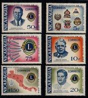 Nicaragua 1958 Scott 800-805 MNH, Lions Convention, Map - Nicaragua