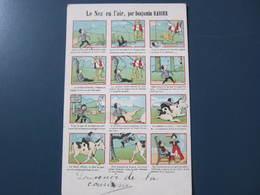 Carte Postale Illustrée B. Rabier Le Nez En L'air Grands Magasins De La Samaritaine - Rabier, B.