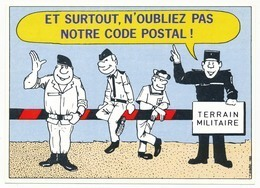 FRANCE - Carte Pour Changement D'adresse - Et Surtout N'oubliez Pas Notre Code Postal - 00 ___ ARMÉES - Postwaardestukken