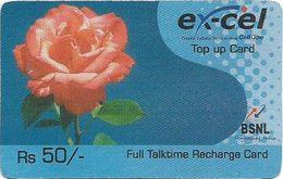India - Ex-Cel - Rose Flower, GSM Refill 50₹, No Expiry Date, Used - India