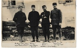 Militaria Carte-photo De Quatre Militaires Identifiés Dont Caporal Fourrier Dutrion Libraire à CLUNY - Personnages