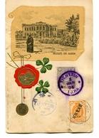 1906 CP De Tientsin Deux Timbres Musée De Gizeh Non Voyagée - Storia Postale