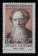 N° 1113 CELEBRITES DU XIIIe AU XIXe SIECLES JULES GUESDE NEUF ** TB COTE 5 € - France