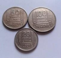 FRANCE LOT DE 100 Francs 1950 50  Francs 1949 + 20 Francs 1956 ALGERIE    (B13  31) - Colonies
