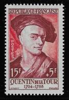 N° 1110 CELEBRITES DU XIIIe AU XIXe SIECLES QUENTIN DE LA TOUR NEUF ** TTB COTE 4,40 € - France