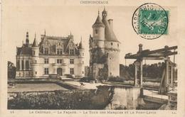 CPA 14. CHENONCEAUX - Le Château - La Façade - La Tour Des Marques Et Pont Levis - Chenonceaux