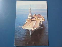 Carte Postale Porte-avions Clemenceau - Guerre