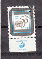 NATIONS  UNIES  NEW-YORK    1995     N°   667-673-674-677   OBLITERES   CATALOGUE YVERT&TELLIER - New-York - Siège De L'ONU