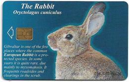 Gibraltar - GNC (Chip) - The Rabbit (Puzzle 3/4), 2001, 25U, 3.000ex, Used - Gibraltar