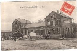CPA Monterolier Buchy La Gare 76 Seine Maritime - France