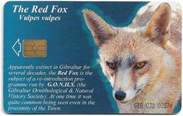 Gibraltar - GNC (Chip) - The Red Fox (Puzzle 4/4), 2001, 25U, 3.000ex, Used - Gibraltar