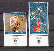 NATIONS  UNIES  NEW-YORK    1995     N°   678-679   OBLITERES   CATALOGUE YVERT&TELLIER - New-York - Siège De L'ONU