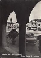 CANNETO SULL'OGLIO-MANTOVA-PORTICI PIAZZA G.MATTEOTTI-CARTOLINA VERA FOTOGRAFIA- VIAGGIATA IL 22-9-1969 - Mantova