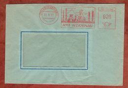 Brief, Absenderfreistempel, Amt Weidenau, Bergwerk, 20 Pfg, 1957 (88547) - BRD