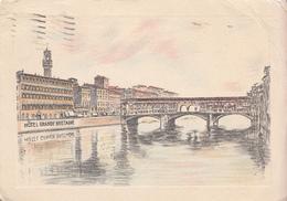 1938 Hotel Grande Bretagne FIRENZE OK Condition (Upper Right Corner Is Dogearred) - Firenze (Florence)