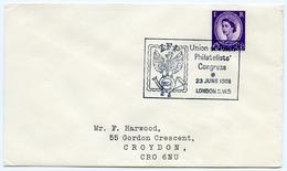 Slogan Postmark On Cover POLISH PHILATELISTS (PZF) CONGRESS, LONDON, 1968 / ADDRESS - CROYDON - 1952-.... (Elizabeth II)
