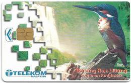Malaysia - Telekom Malaysia (chip) - Birds - Burung Raja Udang, (Chip Siemens S5), 10RM, Used - Luxembourg