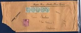 = Enveloppe Papiers D'affaires Recommandé De Lourdes à Toulouse 5 Timbres N°111 - 1900-29 Blanc
