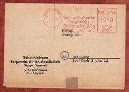 Faltbrief, Absenderfreistempel, Gelsenkirchener Bergwerks-AG, 20 Pfg, Dortmund 1950 (88550) - BRD