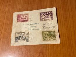 SEYCHELLES -lettre Recommandée 1949 -série UPU- Poste De Victoria  ( Port Offert ) - Seychelles (1976-...)