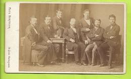PHOTO CDV  Paul BERTHIER PARIS Groupe D Hommes Barbus Clas 9  N070 - Oud (voor 1900)
