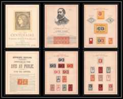 6000/ Centenaire Du Timbres Poste Francais Numéroté (931/3000) Vassileff 1949 Albert Barre - Storia Postale