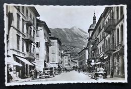 Sion Le Grand Pont/ Dorfstrasse Mit Oldtimer Autos - VS Valais