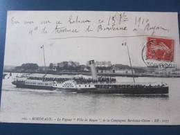 Carte Postale Le Vapeur Ville De Royan - Ships