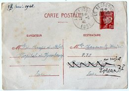 TB 2793 - Guerre 39 / 45 - Entier Postal Type Pétain - Hopital  LE NEUBOURG ( Eure ) - Postwaardestukken